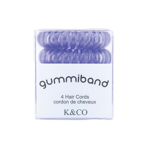 Gummiband 4 Hair Cords (Lavender Twist)