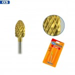 Medicool Pro Bits Gold Carbide Football Bit for Nails (CC5)
