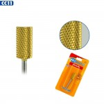 Medicool Pro Bits Gold Carbide Medium Grit Barrel Bit for Nails (CC11)